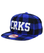 Crooks and Castles Script Logo New Era 9fifty Cap Leather strapback Flannel - $31.64
