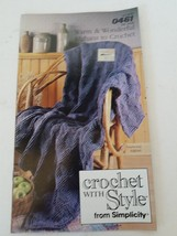 Simplicity Warm & Wonderful Afghans to Crochet #0461 - $8.90