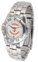 Texas Longhorns Licensed Women Ladies Sport Steel Band Watch - $66.03