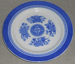 """Copeland Spode Spodes Fitzhugh Blue Pattern 8"""" Salad Plate Made In England - $29.69"""