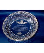 """Galway Crystal """"A Marriage Blessing"""" Plate - $86.00"""