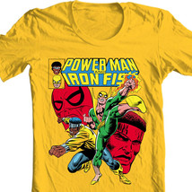 Heroes for Hire Iron Fist Power Man t shirt retro 70s marvel cotton graphic tee image 1