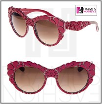 Dolce & Gabbana Mamas Brocade Red Brown Mesh Texture Sunglasses DG4267 4267 - $204.93