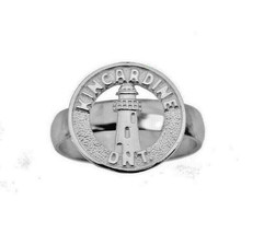 Kincardine lighthouse Ontario Sterling Silver Ring Scottish Destination ... - $29.83