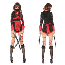 Adult Women Dragon Ninja Halloween Costume Jumpsuit - $43.72