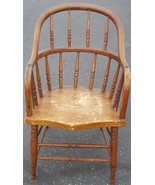 Antique All Wood Windsor Style Arm Chair - GDC - NICE ANTIQUE COLLECTIBL... - $158.39