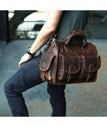 Sale, Horse Leather Messenger Bag, Handmade Briefcase, Men Tote Bag - $215.00