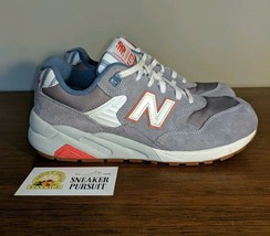 New Balance 580 Classic Beach Grey White Red Women's Sneakers size 7.5 W... - $24.48