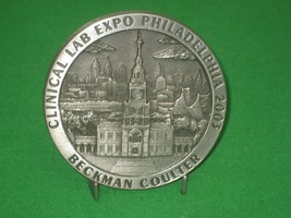 Pewter Medal Souvenir Stand Clinical Lab Expo Philadelphia 2003 Beckman ... - $12.82