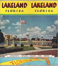 1940s Vtg Lakeland Florida Brochure 12 Pages Air View Photos Civic Cente... - $19.79