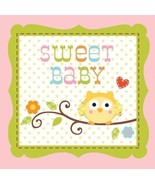 Happi Tree 16 Ct Pink Beverage Napkins Baby Shower Girl Sweet Baby Owl P... - $3.89