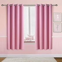 Anjee Pink Blackout Curtains for Girls Bedroom, Grommet Thermal Insulate... - $26.05