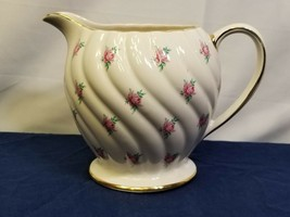 Decorative Pitcher Sadler Pink Flowers Gold Trim 1593 Vintage Estate Col... - $7.84