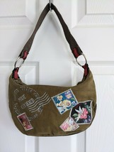 Disney Faries Small Green Canvas Purse Tinkerbell Pixie Certified - $10.00