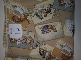Cat Print Fabric, Hi-Fashion Fabrics, 1 Yd (B2070) - $2.00
