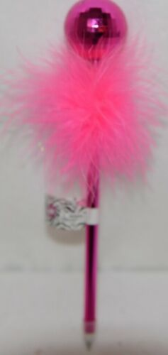 3C4G 57196 Hot Pink Disco Ball Feather Pen 8 plus