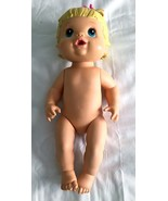Baby Alive Doll Hasbro 2008 Drinks Pees Molded Blonde Hair Blue Eyes Bow... - $19.77