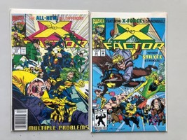 Lot of 2 X-Factor (1st Series) #73 77 Both Signed by Larry Stroman VF Ve... - $23.76