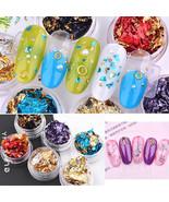 Glitter Aluminum Foil 3D Flake Sticker UV Gel Polish Nail Art Paillette ... - $1.60