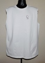 Anvil PW (Personalwear) Graphic Mens White Sleeveless T-Shirt Size: L