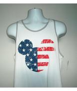 Mickey Mouse  Patriotic Stars & Stripes Tank Top Ringer Shirt Mens Large... - $22.72
