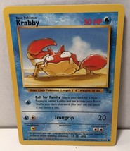 Krabby 51/62 Common Pokemon Card TCG Fossil Set 1999 Wizards NM Great Condition - $2.16