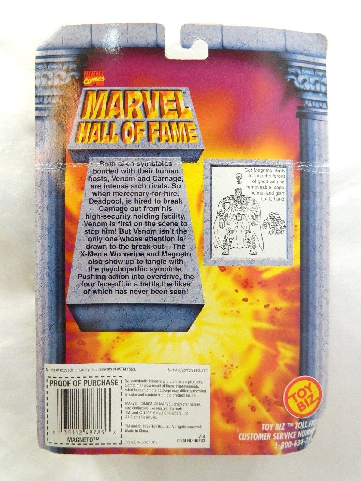 1997 Marvel Magneto X Men Action Figure Unmasked Hall Of Fame Series Toy Biz NOS