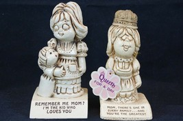(2) Vintage Retro Mom Mother Day Gift Figurines Paula 174 & 588 Queen Fo... - $16.93