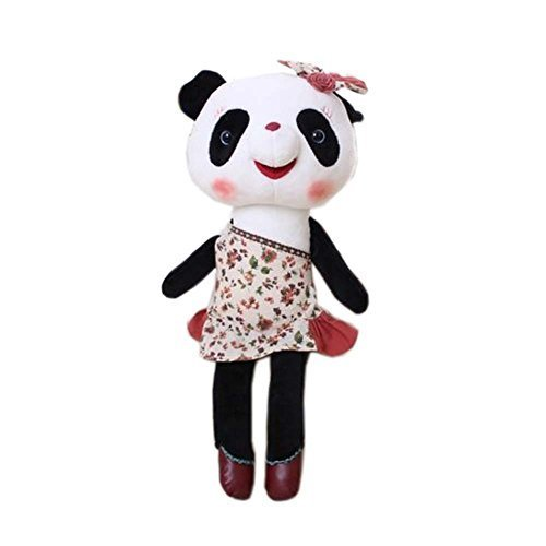 George Jimmy Creative Panda Dolls Lovely Animal Stuffed Toys Girl Gift, Red