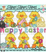 Baby Easter Chicks Clip Art Happy Easter - $1.35