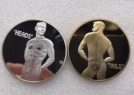 Sexy Man Model Silver or Gold coin FREE SHIPPING - $10.00