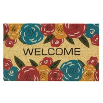 Welcome Mat Outdoor, 18x30 Coir Doormat For Home Front Door Outside - Fl... - $60.57