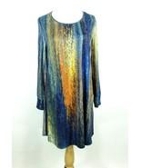 Azalea by Firmiana Size 3X Swingy Multi-Colored Knit Dress Tunic - $24.99