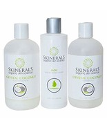 Skinerals Crystal Coconut Shampoo, Conditioner, and Body Wash Set – With... - $67.36