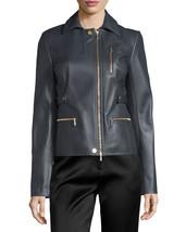 Classic Asymmetric Long Sleeve Women's Genuine Lambskin Leather biker Ja... - $145.00