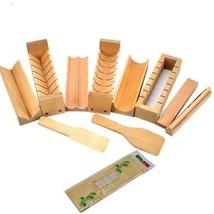 Warrah Set Kit de fabrication sushi en bois, hêtre naturel, rouleau riz ... - $58.61
