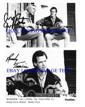 Andy Griffith And Randy Travis Signed Autograph 8x10 Rp Photo Matlock - $16.99