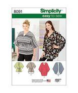 Simplicity 8091 Easy to Sew Women's Kimonos Sewing Patterns, Sizes XXS-XXL - $9.85