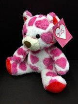 NWT Animal Adventure White Pink Heart Teddy Bear Plush Soft Toy Stuffed ... - $11.39