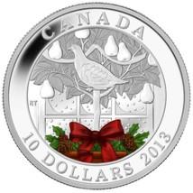 2013 Canada $10 A Partridge in a Pear Tree .9999% Fine Silver Coin w/ Bo... - $45.00