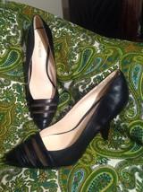 Nine West Balder Women's Shoes Black Leather Classic Pumps High Heels 8.5 M - $24.74