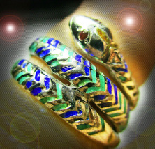 HAUNTED ANTIQUE RING NEST OF VIPERS REVENGE PROTECTION MAGICK MYSTICAL T... - $148.89
