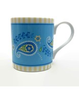 Vera Bradley Andrea by Sadek Katherine Pattern Blue & Yellow Paisley Cof... - $9.90