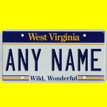 1/43-1/5 scale custom license plates any brand RC/model car - West Virgi... - $11.00