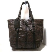 RALPH LAUREN Authentic Leather Tote Bag Dark brown about 41 x 40 x 15cm ... - $834.99