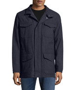 Brooks Brothers Mens Navy Blue Wool Notch Field Coat Jacket Sz Medium M ... - $285.10