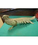 "Great Vintage  Brass PEACOCK Figure/Statue..15.5"" length - $37.21"