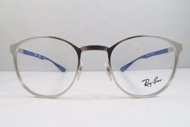 Ray-Ban RB 6355 2538 Round Silver / Blue New Authentic Eyeglasses 47mm -... - $52.34