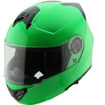 Hawk H-70 Solid Neon Green Modular Motorcycle Helmet - $99.95