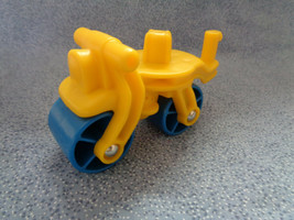 """Fisher Price Roller Construction Vehicle / Bike ? Yellow & Blue 3 1/2"""" Long - $1.16"""